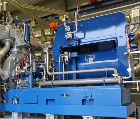 Steam turbine in situe