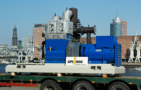 Spilling steam engine ready for shipment to Australia